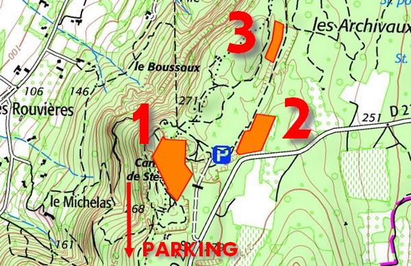 Carrières de Saint-Restitut | Carte