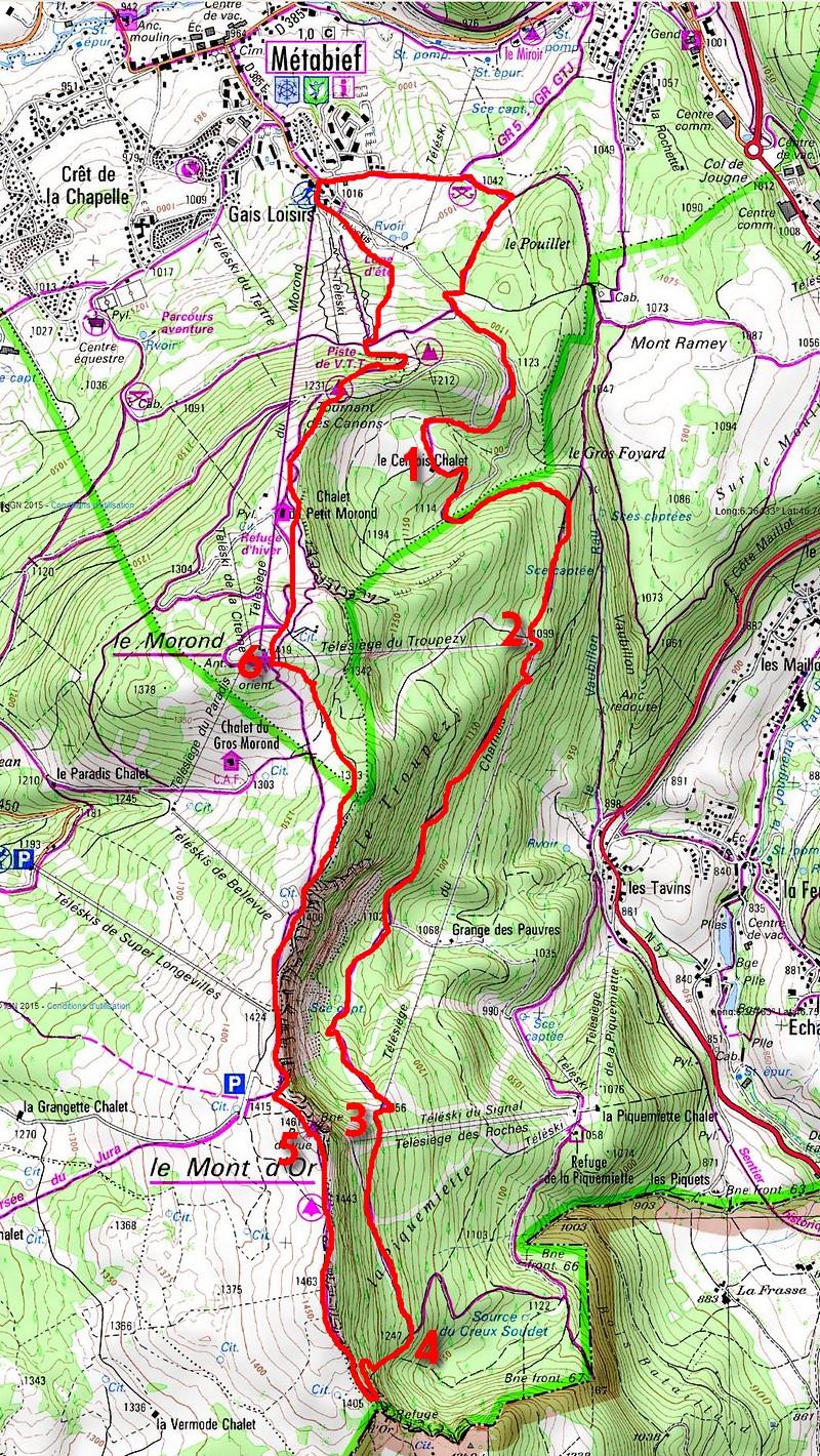 map CdR82 metabief randonnée Mont d'Or