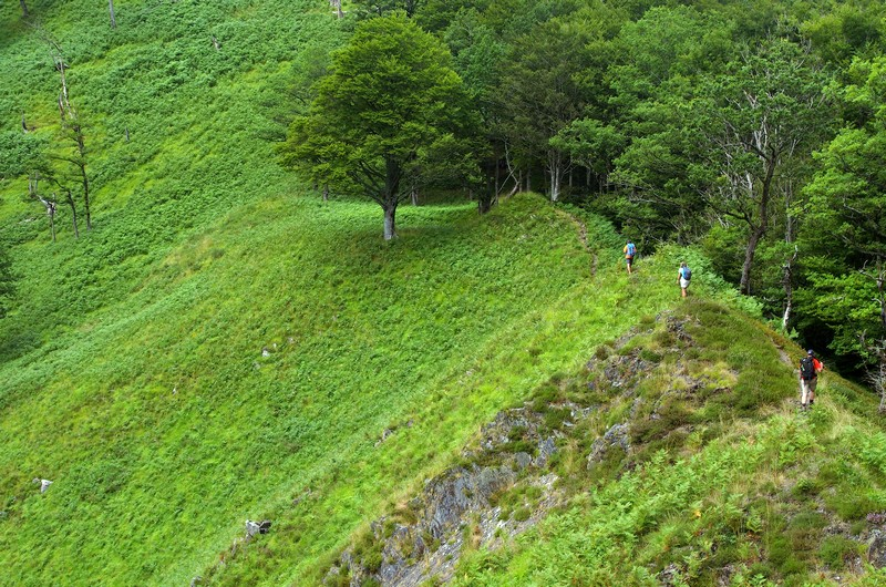 Trek des 3 Vallées, Béarn, Aspe, Crête d'Ourtasse, Lescun