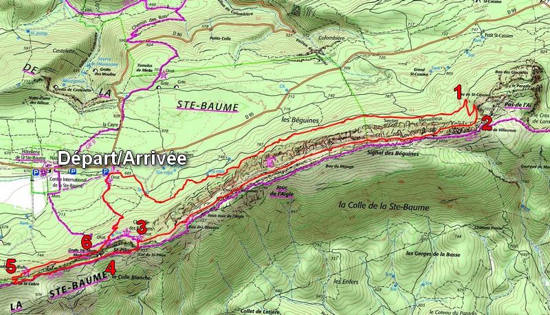 Sainte Baume sentier Marcel Estruch itinéraire