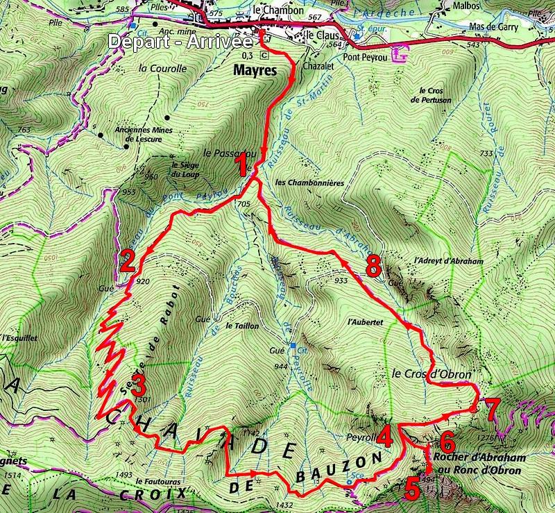 108_itinéraire Randonnée Rocher d'Abraham