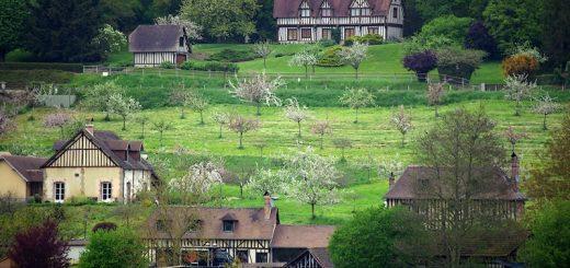 Paysage délicieusement champêtre de ce petit bout de Normandie