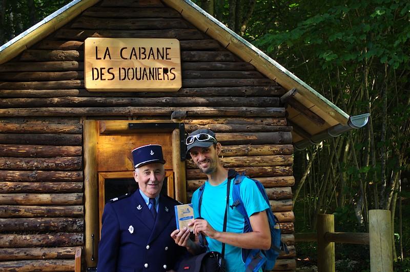 Rencontre avec un vrai-faux douanier sympa à la Cabane de Chamesol