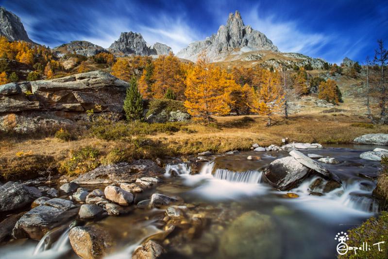 La Vallée de la Clarée à l'automne : bel endroit pour finir la saison ? (crédit photo : Thomas Capelli)