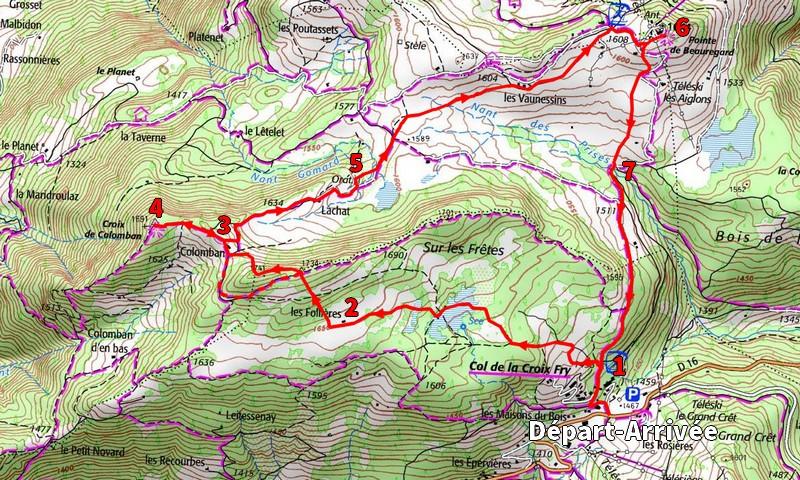itinéraire Plateau de Beauregard