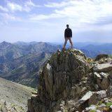 Etape 7 : début de ma variante personnelle pour l'ascension du Monte Rotondo. Au fond, le Monte d'Oro