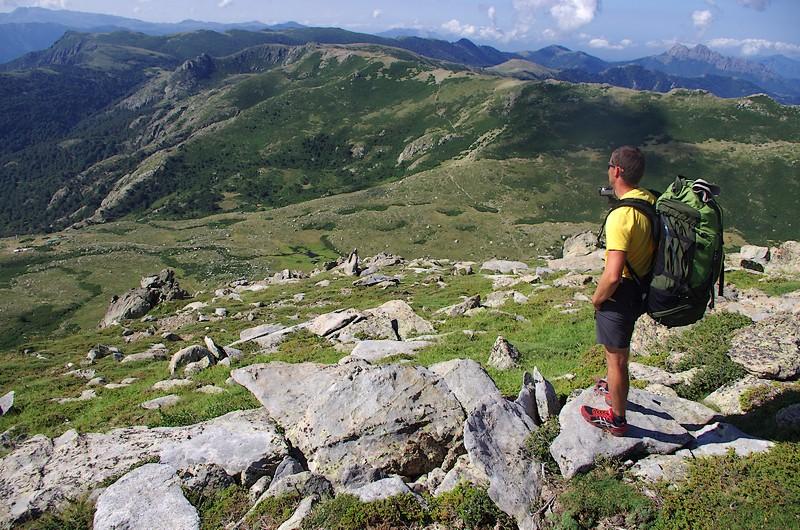 Les paysages de la Corse du Sud, sur la variante du Monte Renose, pendant l'étape 11