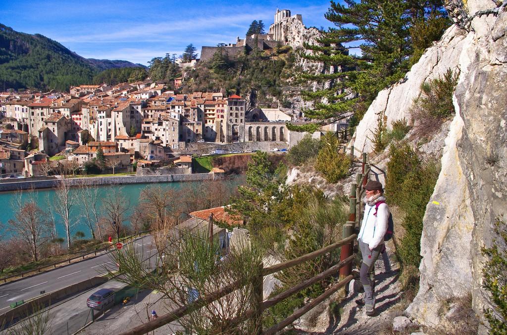 Sisteron depuis le début du sentier