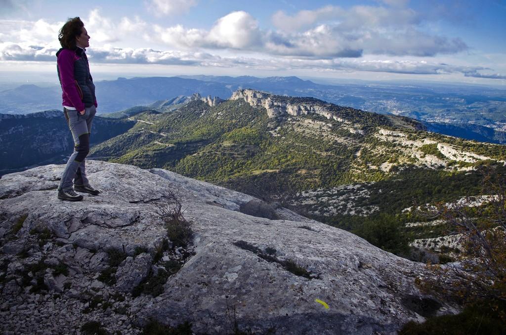 Sommet du Pic de Bertagne et panorama